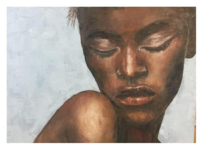 Debby Silver     Eyes closed     Oil     66x46 cm     R3500