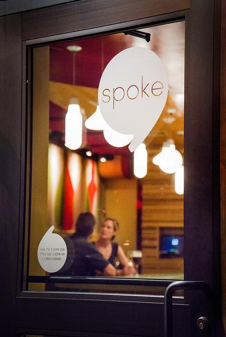 thumbnail for Vinyl Window Graphics — Spoke Restaurant