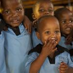 Children at Ikhaya Labantwana Orphanage in Bophelong