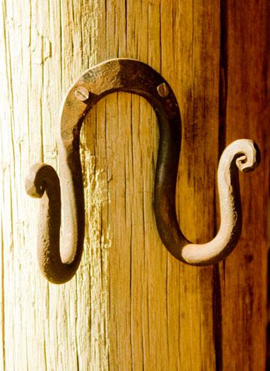 Horse shoe double hook