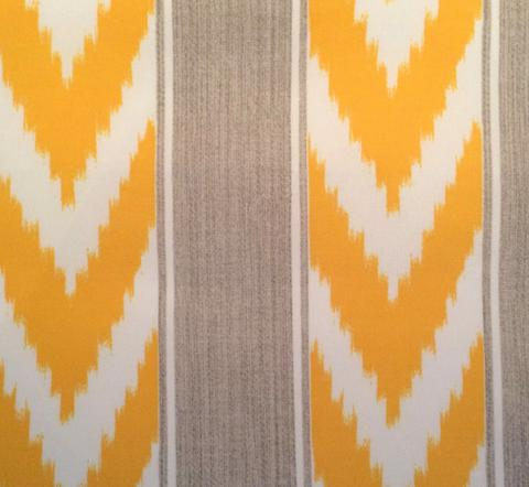 Ikat Stripe Outdoor col. Sunburst