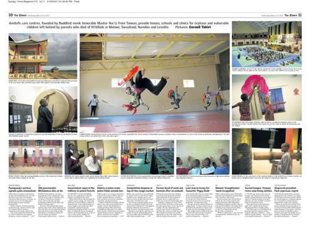 The Times (SA) - 10inTen - Amitofo Care Centres, Swaziland and Lesotho
