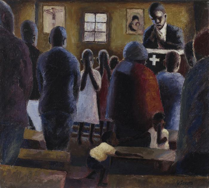 Prayer in church - SOLD