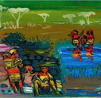 At the watering hole - SOLD