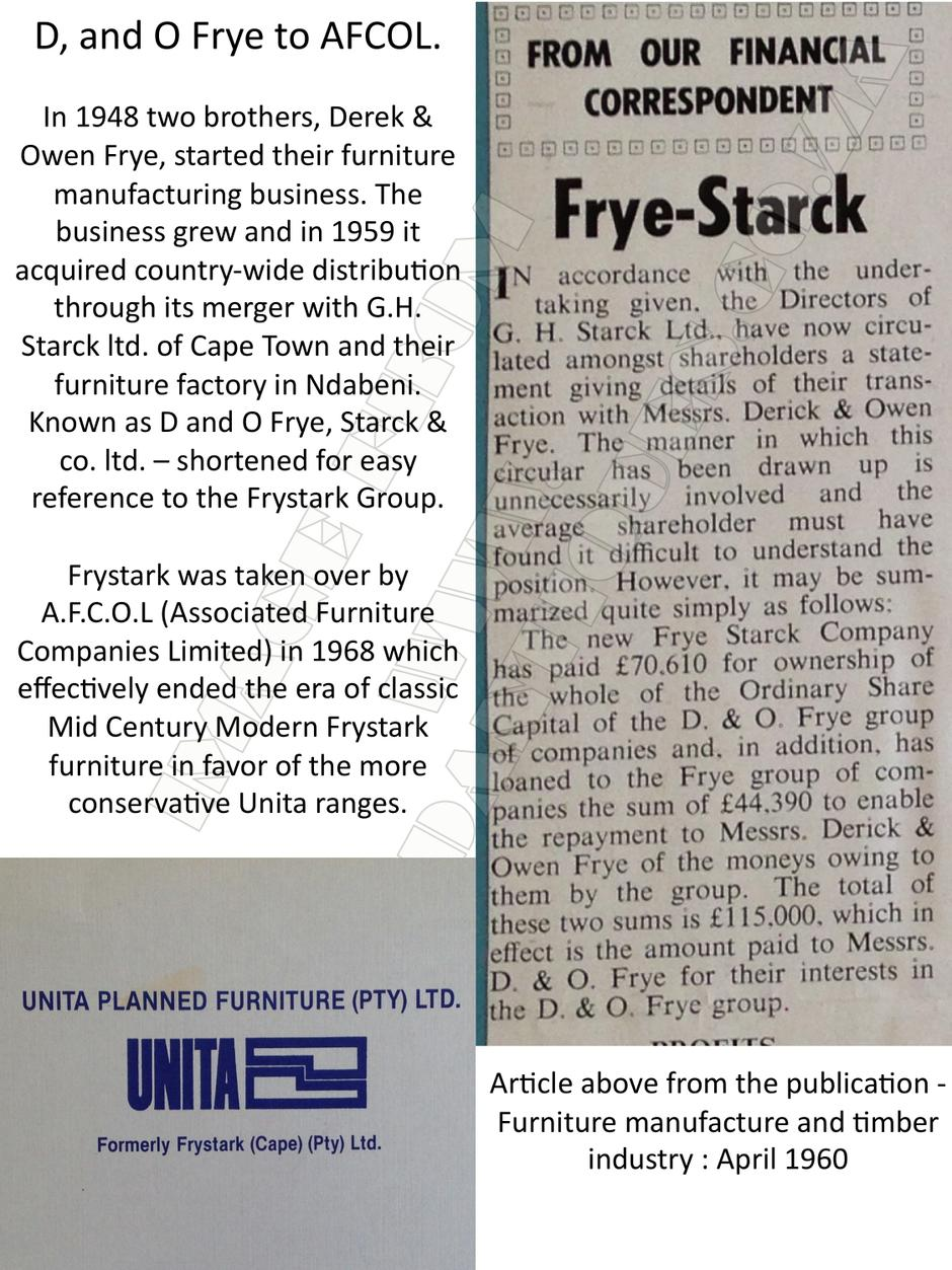A Little History - Frystark Furniture page 2