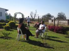 Lisa interviews Gethwana on her farmstead