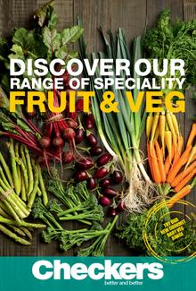 Checkers Launch Fruit & Veg Catalogue