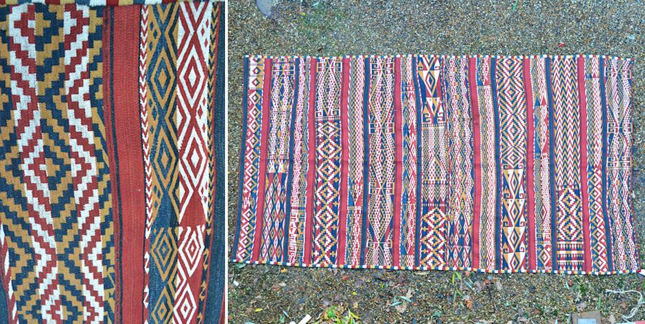 Uzbek ' Ghudjeri ' warpface flatweave from N.Afghanistan • mid 20th cent