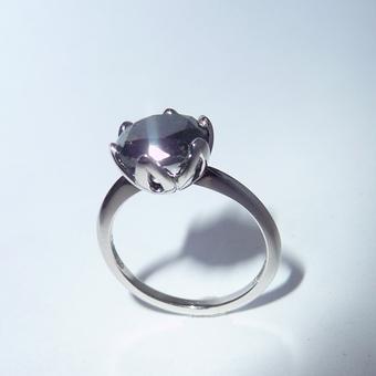 thumbnail for 4ct Black Diamond Tulip Ring