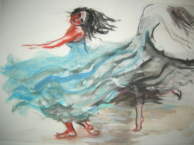 Dancer with shadow