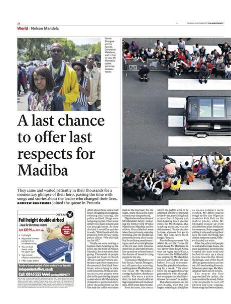 The Independent (UK) - Portrait, waiting for Mandela