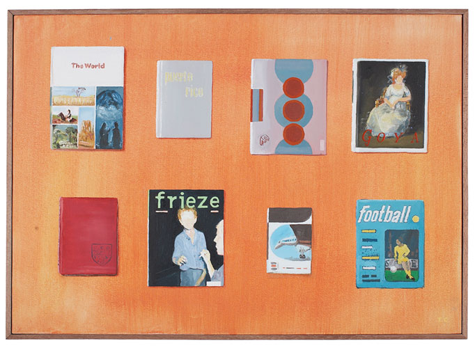 Studio Books, oil on canvas, 70 x 50 cm, 2008