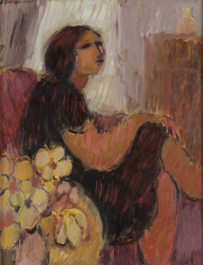 Woman in an interior - SOLD