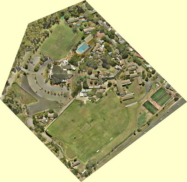 Aerial Survey orthophoto with UAV drone