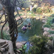 Filming Phindile's underwater scene