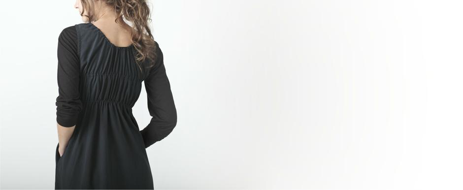 Charcoal Dress with Elastic detail on Back; Lo, Autumn/Winter 2011