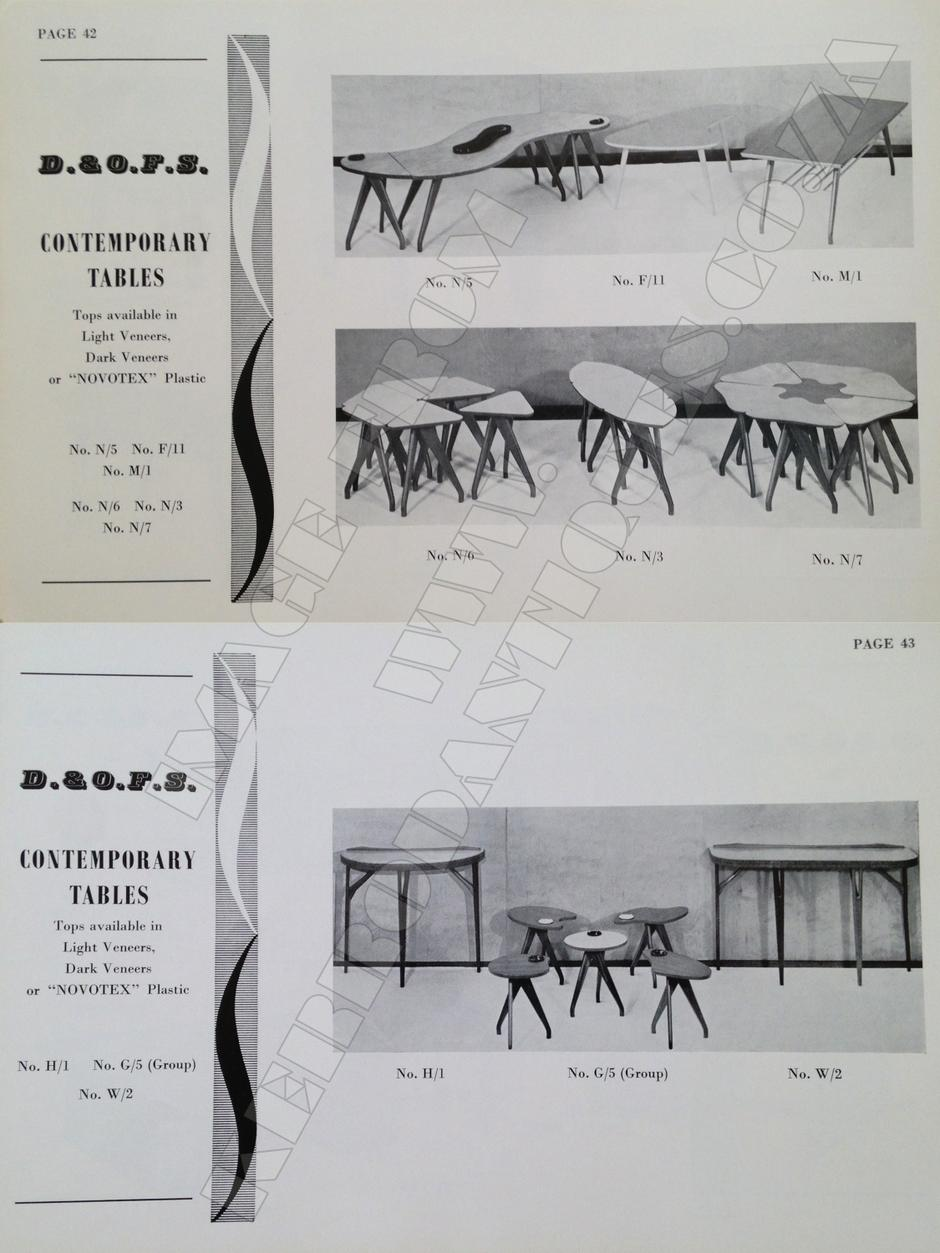 D. & O. F. S. contemporary tables.