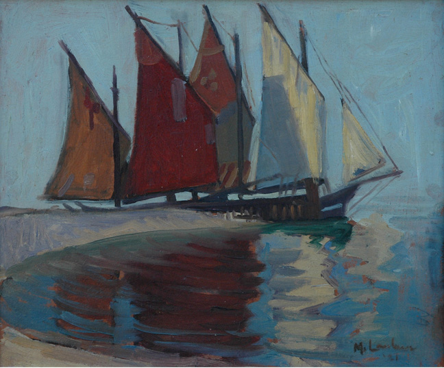 Boats in harbour, Lake Garda - SOLD