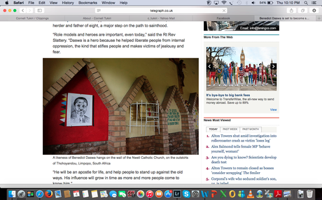The Telegraph (UK) - Benedict Daswa, Southern Africa's First Saint