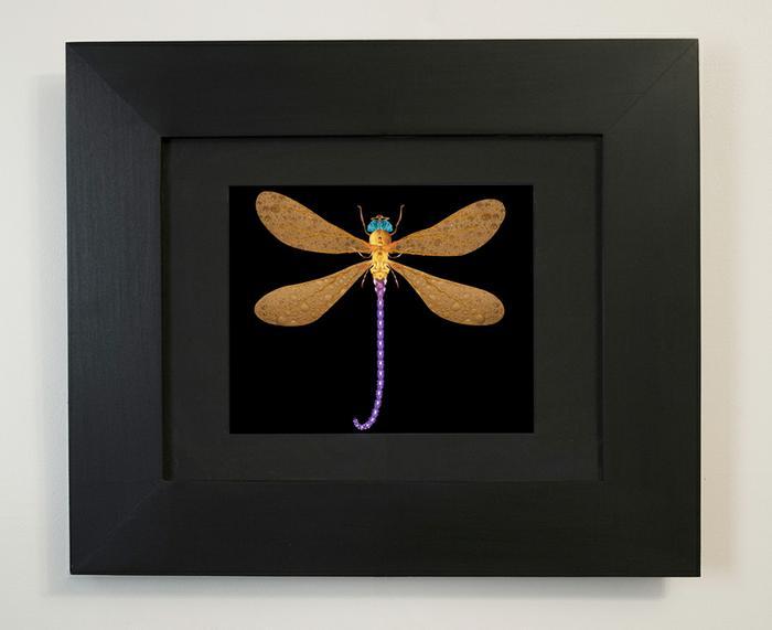 image of final framed piece of Damselfly (portrait of Darlene), 2005
