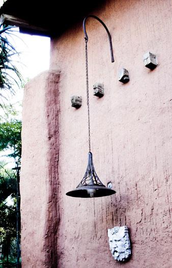Hanging light with tin shade