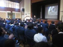 Liesl talks at Batavia High School In Cape Town