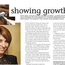 Thumbnail for Showing Growth - Style Mag - April 2010