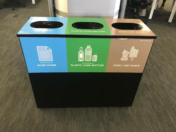 office outdoor recycling bins plastic stainless steel cardboard. Black Bedroom Furniture Sets. Home Design Ideas