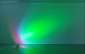 Ann Veronica Janssens, medium pink / turquoise (2007), acquired by the Belgian Senate in 2010
