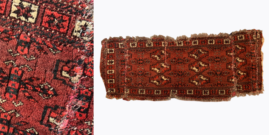 Turkmen Arabatchi fragmented torba • 19th C