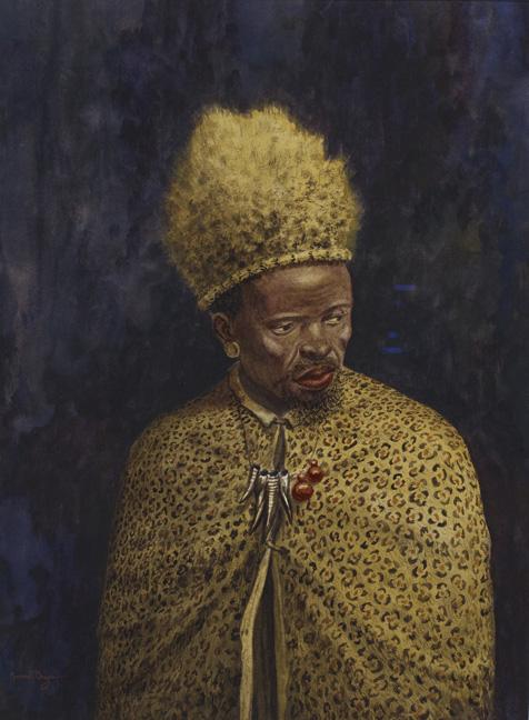 Gerard bhengu: inyanga in traditional dress - sold