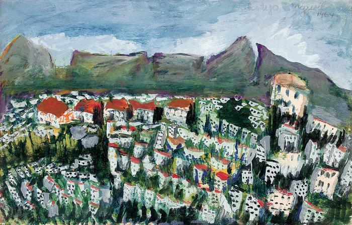 Suburbs with Table Mountain (1964)
