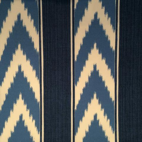 Ikat Stripe Outdoor col. Cornflower
