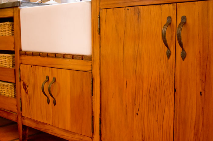 Forged cupboard door handle
