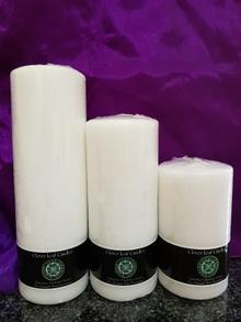 White altar candles,unfragranced