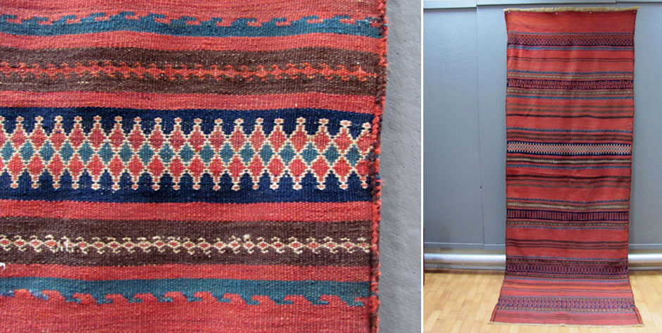 Balouch supplementary weft flatweave S W Afghanistan • circa 1900