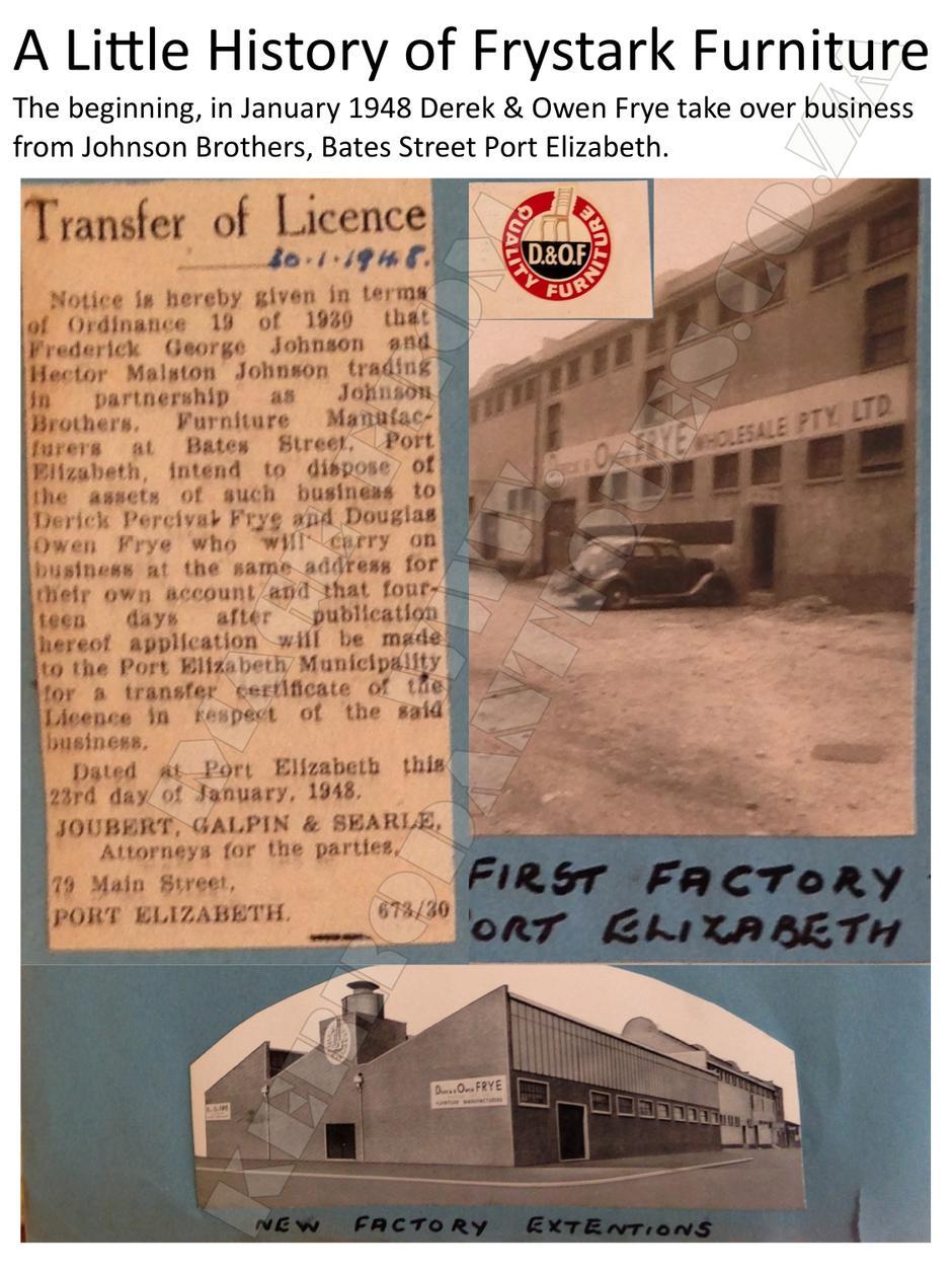A Little History - Frystark Furniture page 1