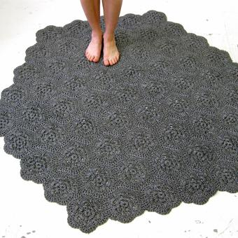 thumbnail for charcoal hexagonal carpet