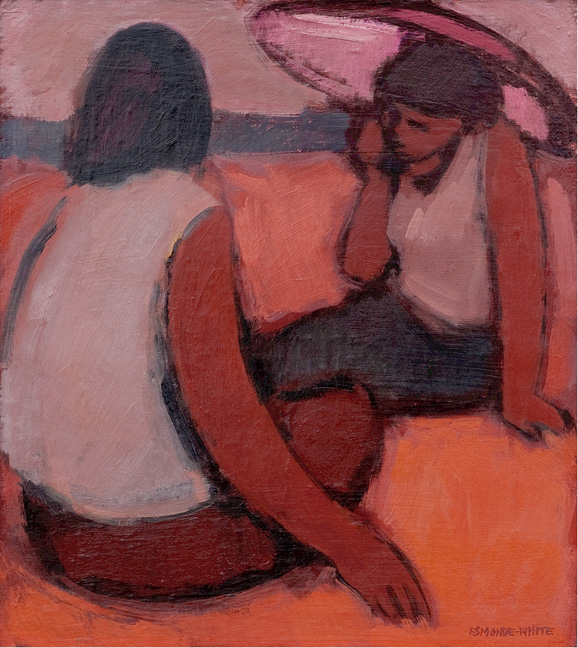 Girls on the beach - SOLD