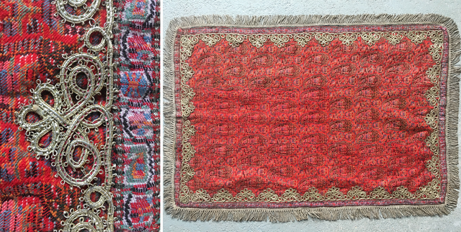 Persian Qajar termeh fine twill probably for a baby cot • mid 19th cent