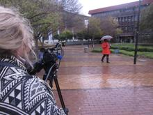Filming at the University of the Wester Cape. Pamphilia's Alma Mater