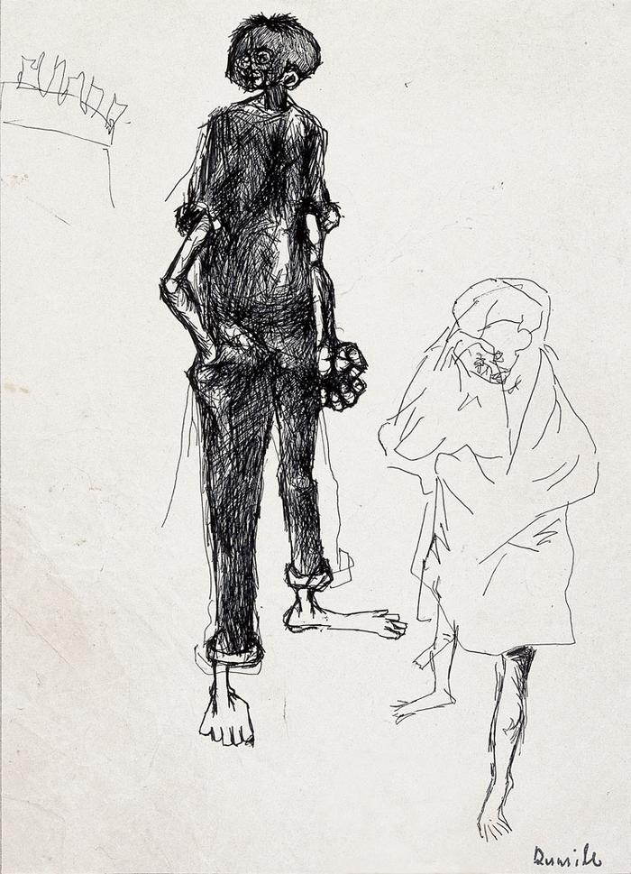 Untitled (figure with fist)