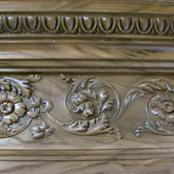 faux woodgrain cornices
