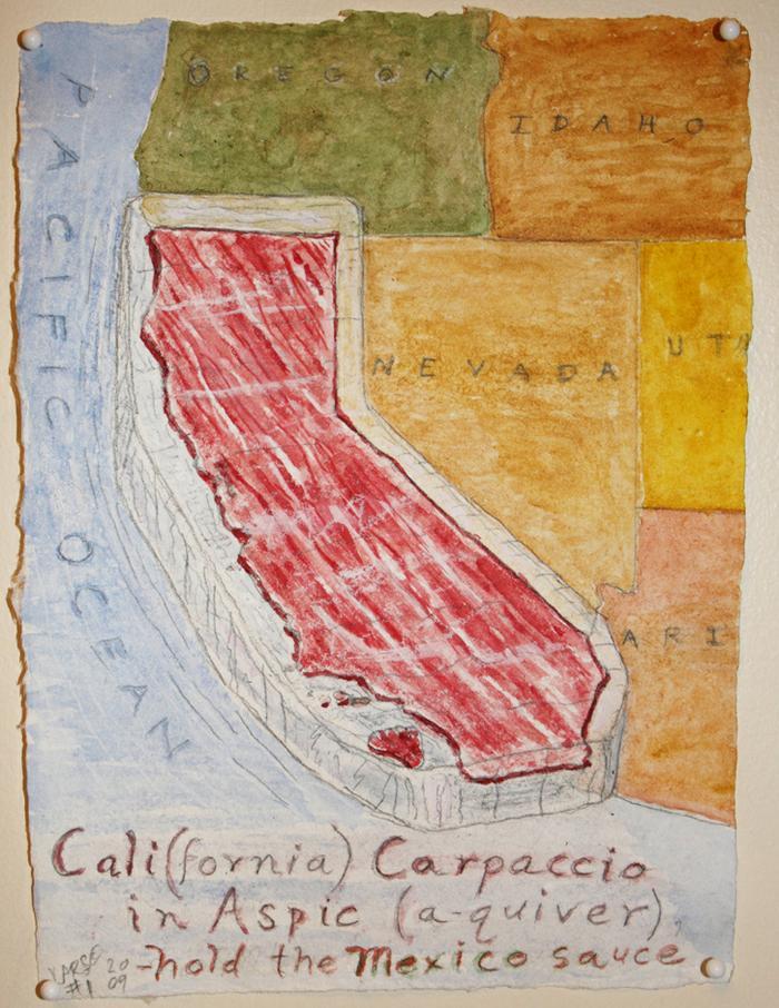 Cali (fornia) Carpaccio in Aspic, a-quiver -hold the Mexico sauce #1 2009