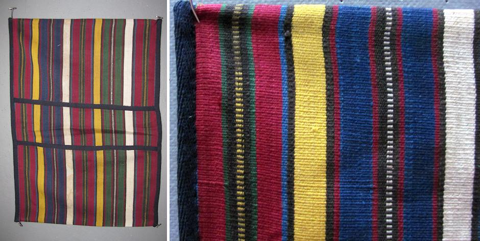 Azerbaijan small silk khorjian pannier ' Caspian ' silk bag • circa 1900