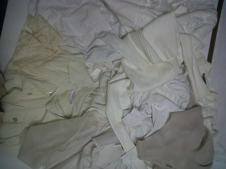 Old garments used by Christopher Strong for dress in Image 4.