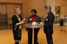 In conversation before the start of the conference