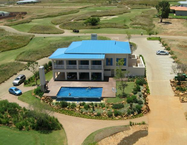 Aerial Photograph harbour town club house vaal dam south africa