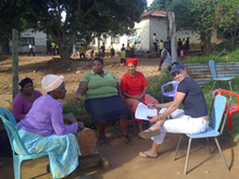 Director Izette Mostert with Ma Violet and her volunteers in Bushbuckridge