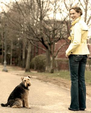 Me, Noel Danforth, and my studio companion Gaiter a welsh terrier.